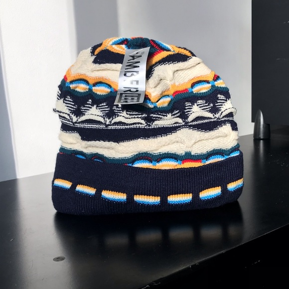 674d50ed15a Brand-New zig-zag knit rasta tam style beanie hat!